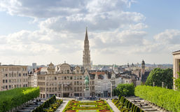Mont des Arts (Mount of the arts) gardens in Brussels Stock Photography