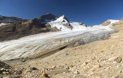 Mont Des Poilus και Des Poilus Glacier Στοκ Εικόνα