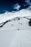 Mont Elbrus seening below Priut station Royalty Free Stock Photos