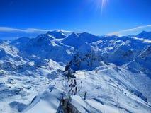 Mont Fort, Verbier, Suíça Imagem de Stock Royalty Free