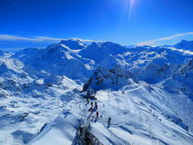 Mont Fort, Verbier, Switzerland Royalty Free Stock Image