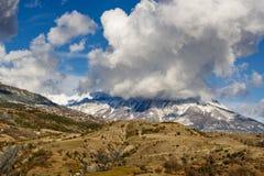 Mont Guillaume e san Apollinaire Village Inverno, alpi, Francia Immagini Stock Libere da Diritti