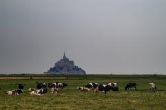 Mont-heilige-Michel Frankrijk stock afbeeldingen