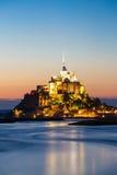Mont Heiliges Michele, Frankreich Lizenzfreies Stockbild