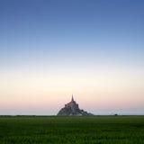 Mont HeiligMichel Ansicht von der Wiese Lizenzfreie Stockfotografie
