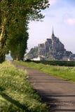 Mont HeiligMichel Ansicht von der Wiese Lizenzfreie Stockbilder