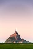 Mont HeiligMichel Ansicht von der Wiese Stockbild
