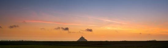 Mont HeiligMichel Ansicht von der Wiese Lizenzfreies Stockfoto