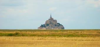 Mont helgon michel Normandie Royaltyfri Fotografi