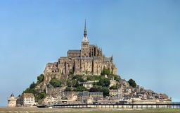 Mont-Helgon-Michel - Normandie - Frankrike royaltyfri foto