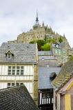 Mont helgon Michel, Normandie, Frankrike Arkivbild