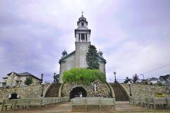 Mont-Joli教会  免版税图库摄影
