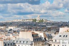 Mont Matre Hügel, Paris, Frankreich lizenzfreies stockfoto