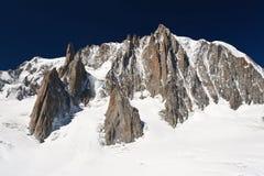 Mont Maudit, alpi francesi Fotografie Stock