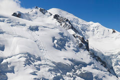 Mont Maudit and Mont Blanc Royalty Free Stock Image
