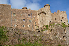 Mont Orgueil Castle in Gorey, Jersey, UK Stock Images
