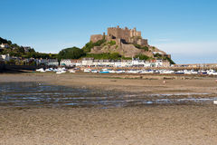 Mont Orgueil Castle in Gorey, Jersey, UK Stock Image