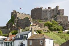 Mont orgueil castle on jersey island Stock Photo