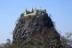 Mont Popa - Myanmar (Birmania) fotos de archivo