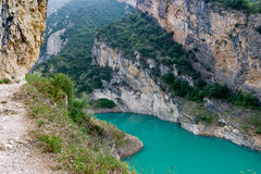 Mont-rebei gorge in Catalonia Royalty Free Stock Photo