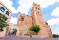MONT-ROIG台尔CAMP,西班牙- 2017年6月19日:博物馆中心Miro老教会 复制文本的空间 库存图片