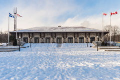 Mont-Royal Chalet in Montreal stock photography