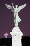 Mont-Royal Cross and Angel Statue Stock Photo