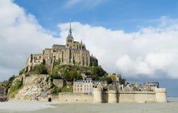Mont Saint Michel öslott Arkivbild