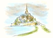 Mont Saint Michel libre illustration