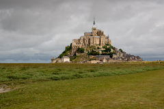 Mont Saint Michel. The mount Saint-Michel Abbey, Normandy, France Royalty Free Stock Images