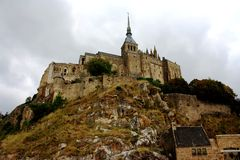 Mont Saint-Michel. Holy place, situated on a beautiful mountain Stock Photo