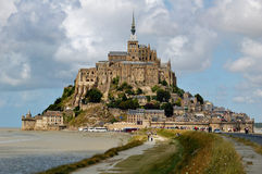 Mont Saint Michel. This picture shows Mont Saint Michel in France Royalty Free Stock Images