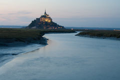 Mont saint michel. At night Stock Photography