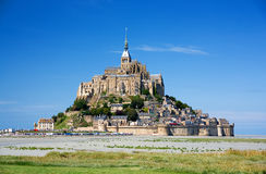 Mont Saint-Michel. (Saint Michael's Mount) a rocky tidal island and a commune in Normandy, France Royalty Free Stock Image