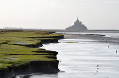 The Mont-Saint-Michel. As seen from the Roche Torin Royalty Free Stock Photo