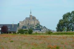 Mont Saint Michel Arkivbild