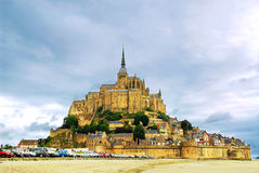 Mont Saint Michel. View on Mont Saint Michel abbey in France Royalty Free Stock Photos