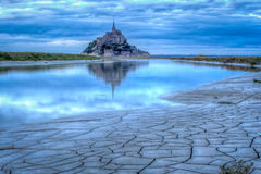 Mont Saint-Michel Foto de Stock Royalty Free