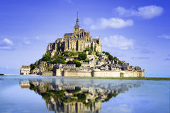 Mont Saint Michel Foto de Stock Royalty Free