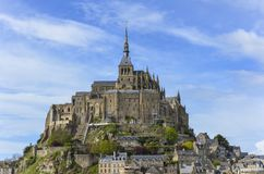 Mont-Saint-Michel Images libres de droits