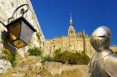 Mont saint-Michel. Abbey details -Normandy Royalty Free Stock Photography