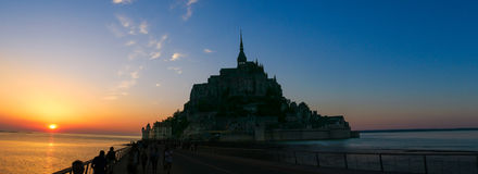Mont Saint-Michel immagini stock