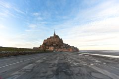Mont Saint-Michel abbey Royalty Free Stock Photography