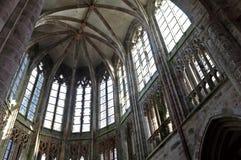 Mont Saint Michel abbey stock image