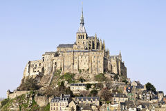 Mont Saint Michel abbey Royalty Free Stock Images
