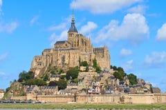 Mont Saint Michel Abbey Stock Photo