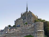Mont Saint Michel Abbey Imagenes de archivo