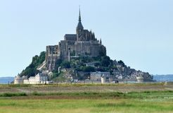 Mont Saint Michel Abbey Imagen de archivo