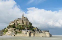 Mont Saint-Michel abbey Fotografering för Bildbyråer