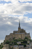 Mont Saint-Michel abbey Royaltyfria Foton